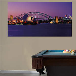 Sydney Opera House Mural Fathead Wall Decal